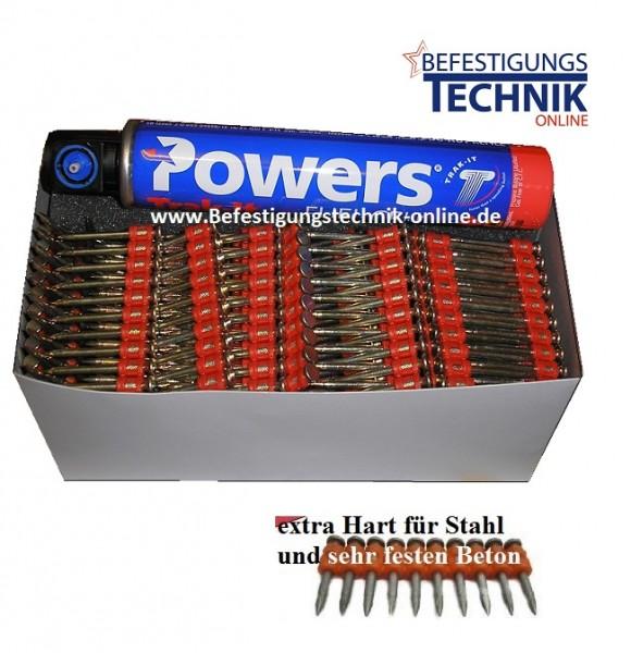 Betonnägel Ø 3,0x38/40mm XH extra hart inkl. 1xGas für Powers C3 Würth Diga CS1 Spit Pulsa 1000