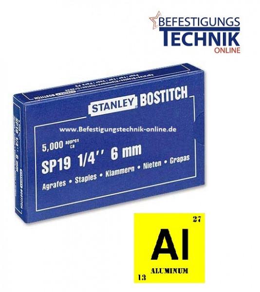 Heftklammern Klammern Bostitch SP1906 6mm Aluminium KL-86