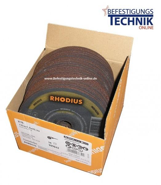 50 Stück Trennscheiben XT70 Alpha Premium 125x1,0x22,23 mm für Winkelschleifer Edelstahl / Stahl