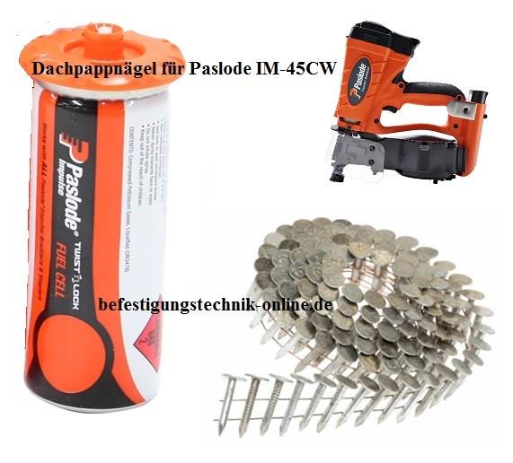 960 Dachpappnägel 3,1x38mm feuerverzinkt Gas für Paslode Dachpappnagler IM45CW