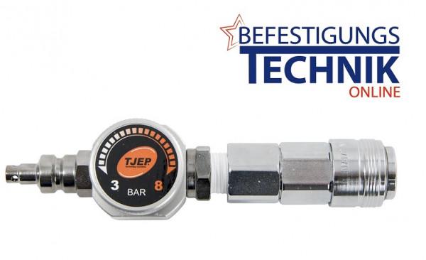 Tjep Hochdruck Reduktionsventil mit Kupplung für Kompressor 9/20 HP High Pressure