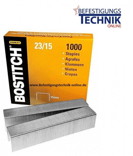 Bostitch 23-15-1M Heftklammern für HD-12F HD-23L17 HD-3D B310HDS 00540 KL-23