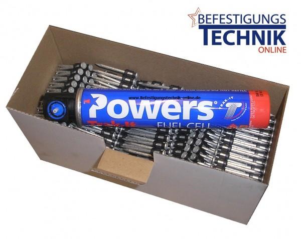 Betonnägel Ø 2,6x35mm inkl. 1xGas für Powers C3 Spit Pulsa 1000 Würth Diga CS1