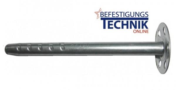 8,0x140mm ISO Dämmstoffhalter Metall Isolierdorn Teller Ø 35mm