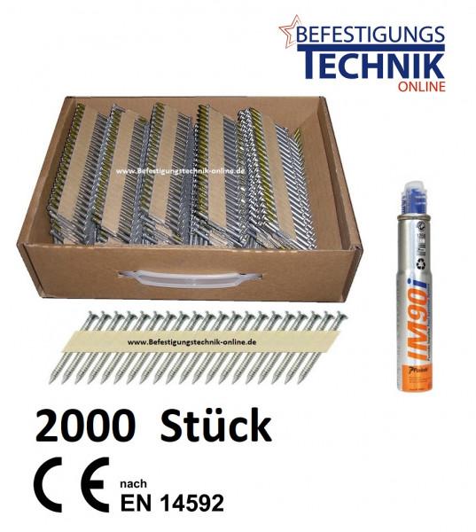 2000 Ankernägel 4,0x40mm 34° papier für Ankernagler Paslode PPN 50i PPN 50Ci