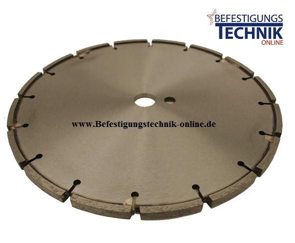 Diamant Fugenfräser ⌀350 x 25,4mm 12,0mm Asphalt für Induktionsschleifen mit Schutzsegment Premium