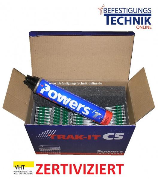 Betonnägel Ø 3,7x40mm HD extra stark + 1xGas für Powers Dewalt C5 Würth Diga CS-2 VHT zertiviziert
