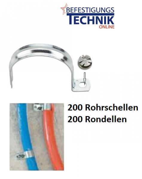 Rohrschellen Kabelschellen Ø 10mm für Betonnagler DeWalt C5 Würth Diga Hitachi pr