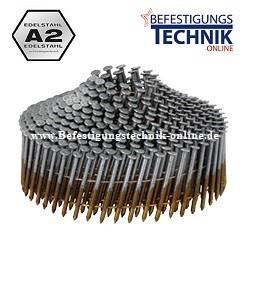 Coilnägel drahtmagaziniert 1,9x42mm Ring rostfrei Edelstahl (gerillt) konisch