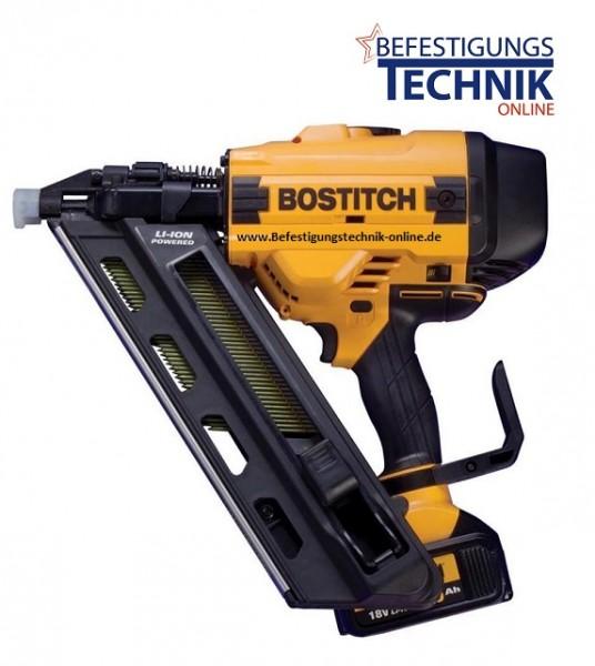 Bostitch Akku Nagler Streifennagler BF33-E plus 18V 2x4,0 Ah (45-90mm) 34°