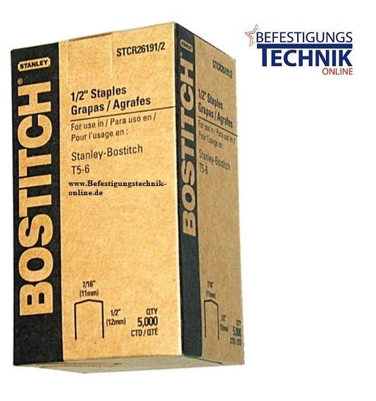 Bostitch STCR2619 8mm Klammern verzinkt für P6C-6 H30-6-E T4 T5 KL-79