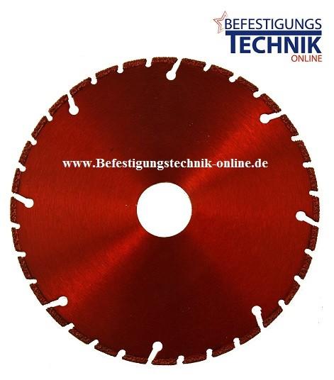 Diamant Trennscheibe ⌀230 x 2,0 x 22,22 mm für Winklelschleifer Metall Profile Eisen Guss Stahlrohre