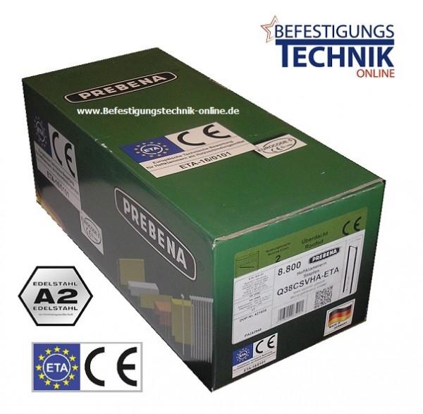 Prebena Q-6774 63mm CRFHA ETA Heftklammern rostfrei Senco SQS Tjep PQZ Eurocode 5 KL-39