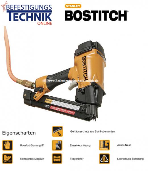 Bostitch MCN250-E (40-50-60 mm) Druckluft Ankernagler 34° für papier,- u. plastgebundene Ankernägel