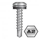 5,5x25mm SIMPSON Quik Drive magazinierte Wellprofil Schrauben auf Stahl