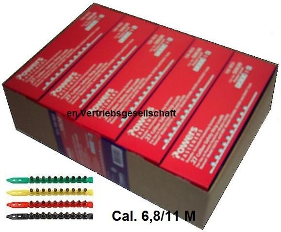 Streifenkartuschen Kalieber 6,8/11 M Rot für DeWALT PA3500 HILTI Würth Berner
