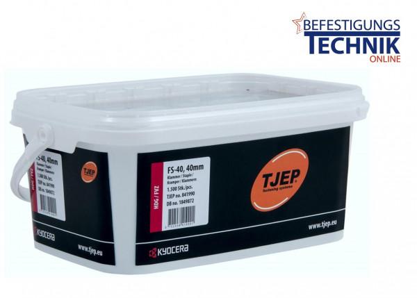 40mm Zaunklammern für Zaunklammergerät TJEP FS-40 Gas Senco GT40FS Fasco F46/40 KL-89 1.5M
