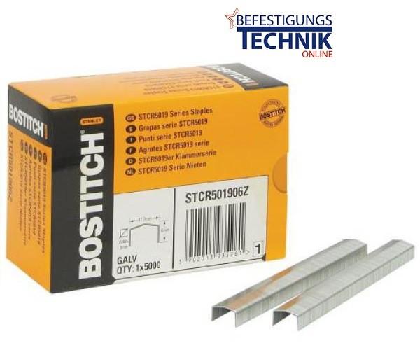 Bostitch STCR5019 12mm Klammern für Tacker PC8000 T6 PC2K P6C KL-65