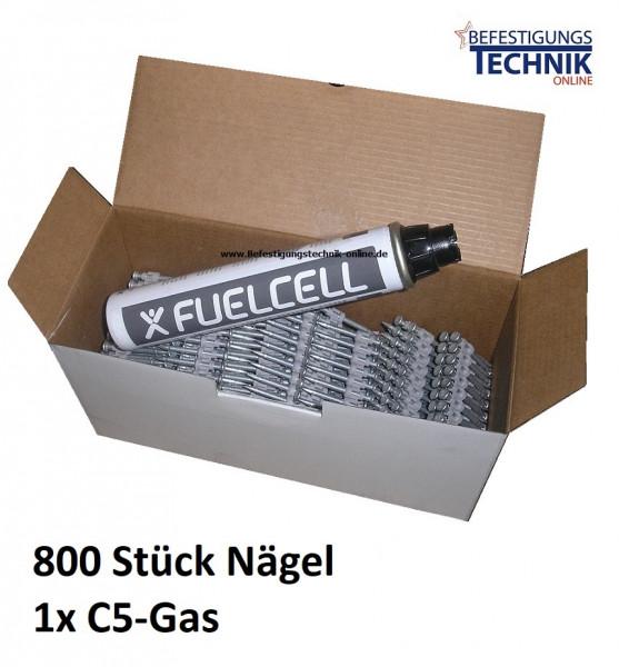 Betonnägel 2,6x25mm + Gas für Powers Dewalt C5 Würth Diga CS 2 Betonnagler