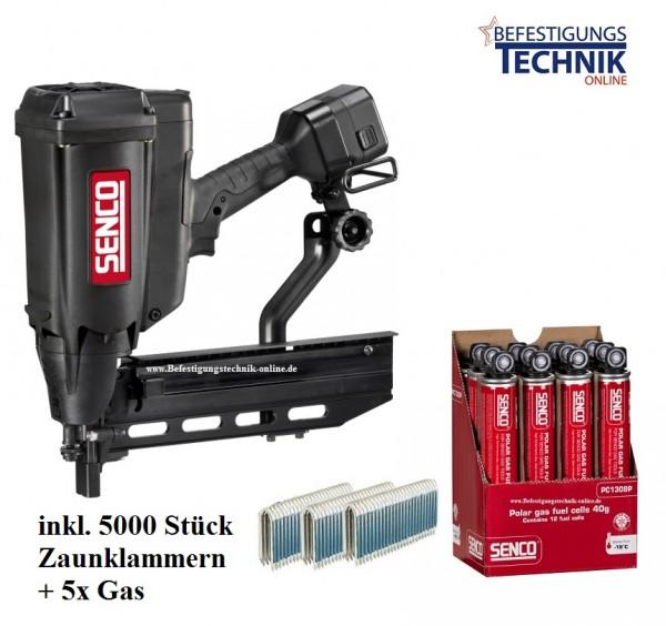 Senco GT40FS GAS 2G Zaunklammergerät Aktion inkl. 5x Gas + 5000 Zaunklammern Krampen für Wild Zaun K