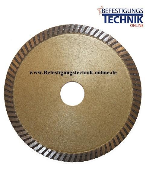 Diamant Trennscheibe ⌀125 x 22,2 mm extra dünn 1,2mm Fliesen Keramik Kacheln Standard plus
