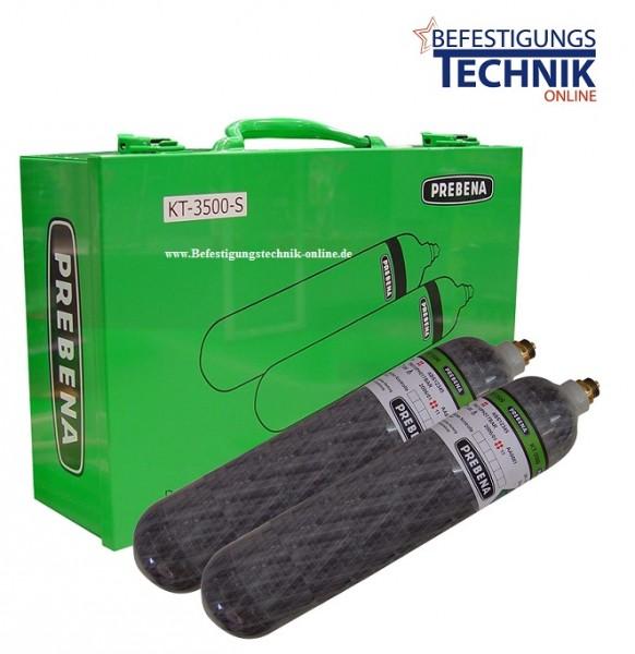 10 bar 2x1,5 Liter KT-3500-S Prebena Mobilo wiederbefüllbare PKT Druckluftkartuschen