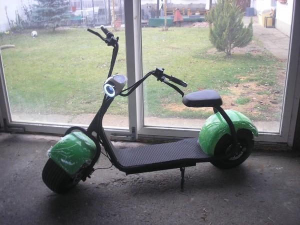 Chopper Grün Elektro Scooter Elektroroller E-Bike 1000 W 60 V LiIon Akku 12Ah