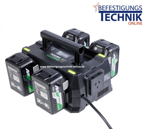 ✅ Hikoki Booster Pack Multi Volt UC18YTSL 4 Akkus BSL36A 36V/2,5Ah 4-fach Ladegerät