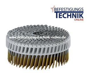 PC Nägel 2,8x75mm Ring feuerverzinkt plastmagaziniert 15° sheetgebunden