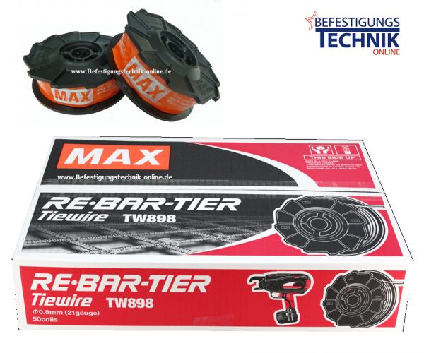 MAX TW897A 50 Drahtrollen 0,8mmx100m Bindedraht für MAX ...