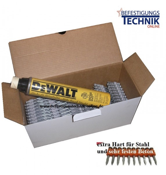 Betonnägel Ø 3,0x32mm XH extra hart inkl. 1xGas für Powers DeWalt Trak-IT C5 Würth Diga CS2