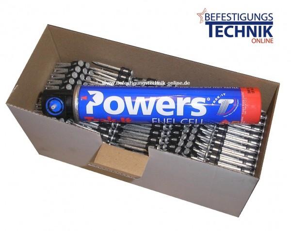 Betonnägel 2,6x40mm + Gas für Powers C3 Spit Pulsa 1000 Würth Diga CS1 Betonnagler