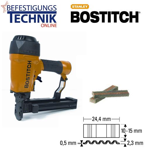 Bostitch CF15-1-E (CF Br.25mm Länge 9-15mm) Druckluft Wellennagler
