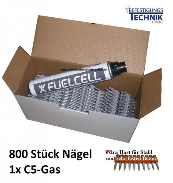 Betonnägel 3,0x22mm XH extra hart + Gas für Powers DeWalt C5 Würth Diga CS2 HFB MP