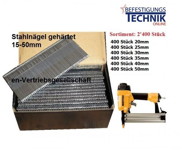 Stahlbrads Sortiment Nägel Fußleistennagler Bostitch SB HC50 FN Tjep ST-15/50 BR-04