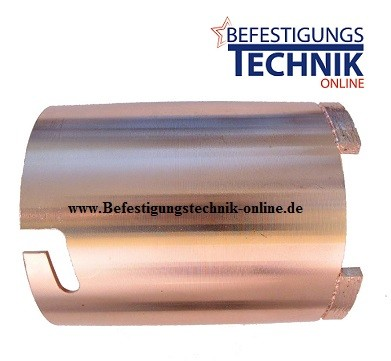 Diamant Dosensenker ⌀ 82 mm 4x Turbosegmente harter Kalksandstein Quadro Bajonettverschluss Premium