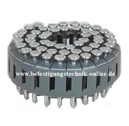 TC Ankernägel 4,0x75 mm Ring verzinkt Coil 0° für BeA Multifix Senco HB75 Max CNV300J