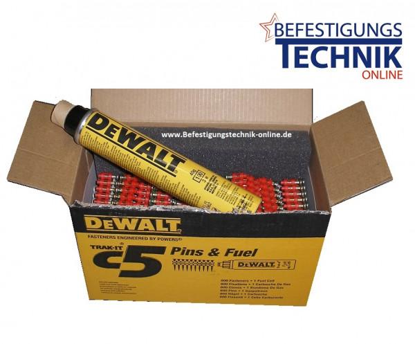 Betonnägel 3,0x17mm XH extra hart inkl. Gas für DeWalt Betonnagelgerät Trak-IT C5 ETA