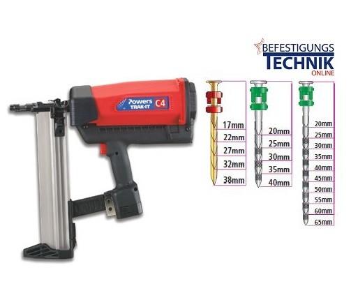 Powers Trak-It Gas Betonnagelgerät Betonnagler C4 für Betonnägel 15-65mm