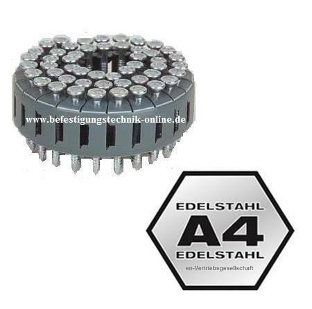 TC Ankernägel 4,0x40 mm Ring rostfrei Coil 0° für BeA Multifix Senco HB75 Max CNV300J