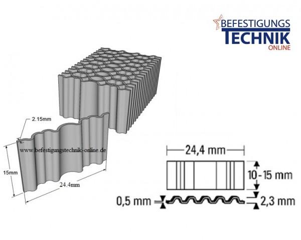 10'080 Wellennägel WN-15 Breite 24,4mm x Länge 15mm für Wellennagler WN 25