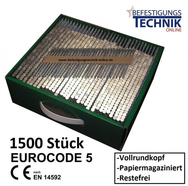 20° Rundkopf Streifennägel 3,4x100mm Glatt blank Papiergebunden für Nagler