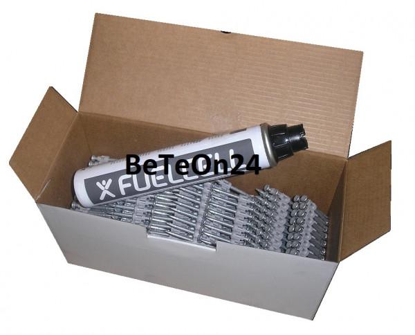 BeTeOn24 Betonnägel 3,0x38mm XH extra hart + Gas für Betonnagler Powers DeWalt C5 Würth Diga CS2 HFB