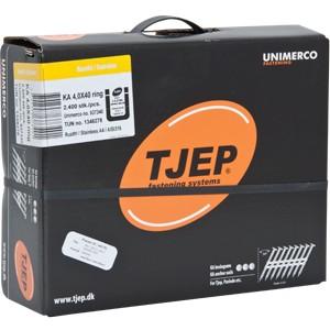 TJEP KA 40/40A4 Ankernägel Kammnägel 34° plastgebunden 4,0x40 mm Ring rostfrei + 3x Gas für KA 4060