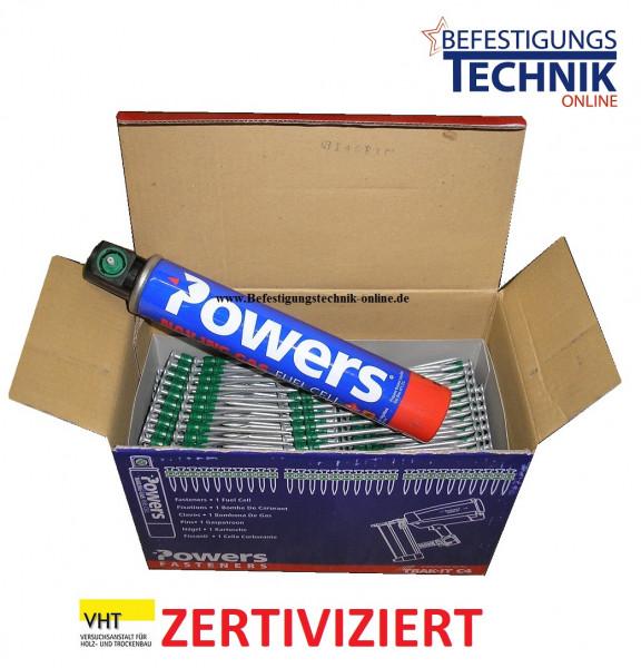 Betonnägel 3,7x40mm HD extra stark +1xGas für Betonnagler Powers C4 Würth Diga CSM-1 VHT zertivizie