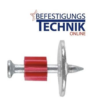 Kopfbolzen Ø 3,7xNagel 37mm mit Ø 22mm Rondelle 2mm Stahl für Bolzensetzer
