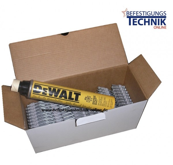 Betonnägel Ø 2,6x25mm inkl. 1xGas für Powers DeWalt Trak-IT C5 Würth Diga CS2