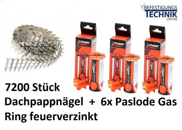 Dachpappnägel 3,1x32mm Ring feuerverzinkt Gas für Paslode Dachpappnagler IM45CW