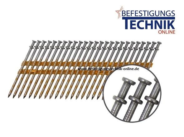 Streifennägel Schalungsnagel FRH20° kunststoffmagaziniert Ø 3,3x85mm glatt Duplex