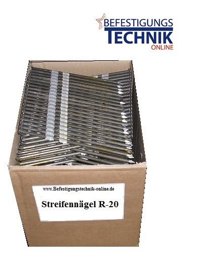 Nägel 20° 4,6x220mm blank kunststoffmagaziniert Streifennägel R20 plastgebunden
